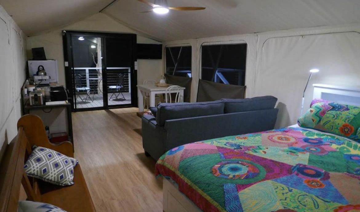 Bedroom and Living Area